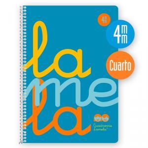 Cuaderno Cuadrovía 4mm cuarto 80h flúor azul (polipropileno)