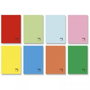 Cuaderno grapado folio con pauta 2,5mm 50hj.
