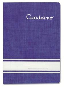 Cuaderno grapado cuarto con pauta 2,5mm 30hj.