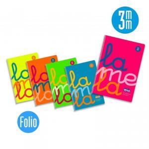 Pack 5 Cuad. Cuadrovía Folio Flúor 3 mm.