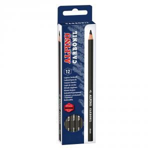 Lápiz carboncillo 4mm. caja de 12