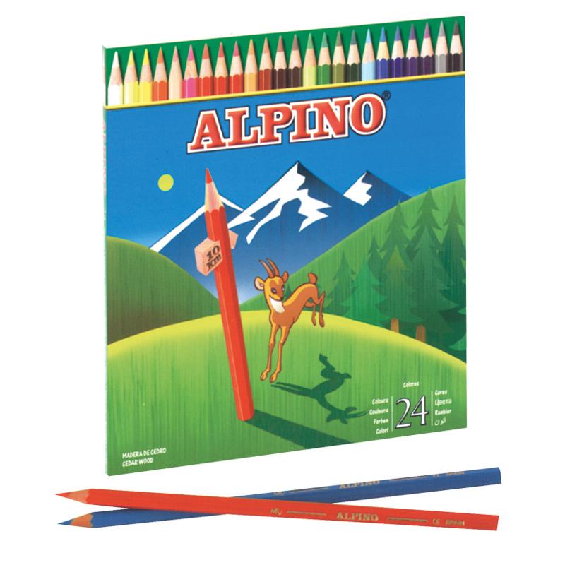 Lápiz color 24 colores Alpino