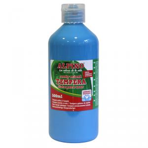 Témpera Alpino 500ml azul cyan