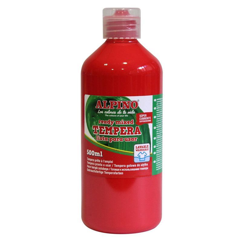 Témpera Alpino 500ml rojo