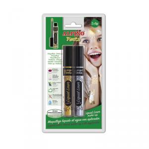 Maquillaje Liquid Liner 6gr blíster 2 unidades oro y plata