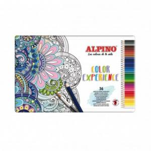 Caja de metal 36 lápices acuarelables Alpino Color Experience