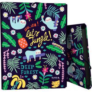 Carpeta folio 3 solapas con goma Jungle Elena Corredoira