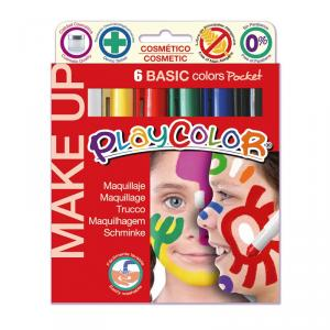 Maquillaje Playcolor Pocket 6 colores Basic