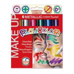 Maquillaje Playcolor 6 colores metallic Pocket
