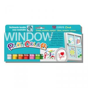 Témpera Instant Playcolor Window 12 colores