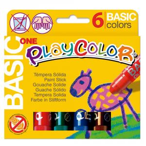 Témpera sólida Playcolor One 6 colores