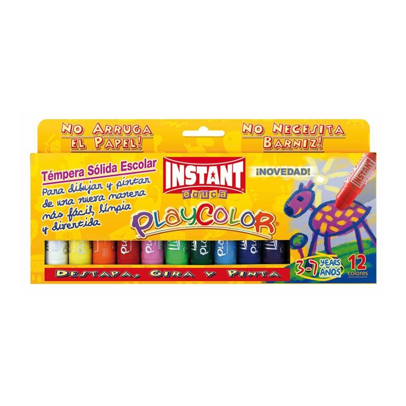 Témpera sólida Playcolor 12 colores