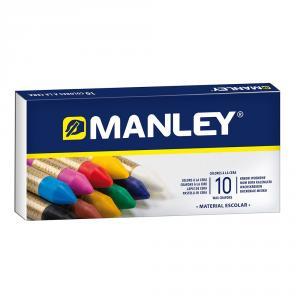 Caja 10 ceras de color Manley