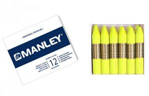 Cera Manley color amarillo limón 12 unidades