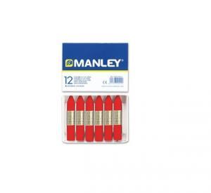 Cera Manley color rojo escarlata 12 unidades