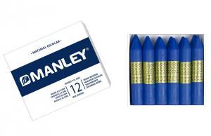 Cera Manley color azul ultramar 12 unidades