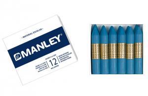 Cera Manley color azul cobalto 12 unidades