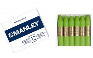 Cera Manley color verde amarillento 12 unidades
