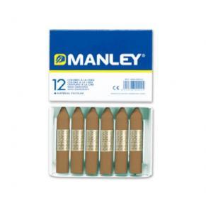 Cera Manley color tierra sombra tostada 12 unidades