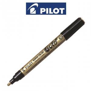 Rotulador Pilot oro punta media blíster 1 unidad