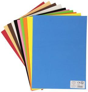 Goma EVA 22x30cm pack 10 láminas 2mm azul