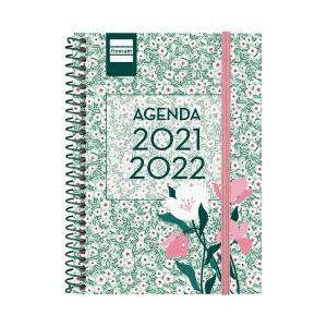 Agenda espiral secundaria octavo semana vista Floral 2021/2022