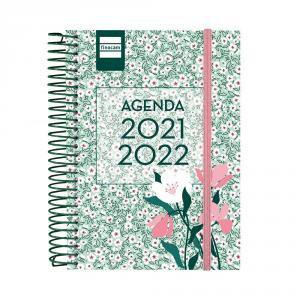 Agenda espiral secundaria octavo día página Floral 2021/2022