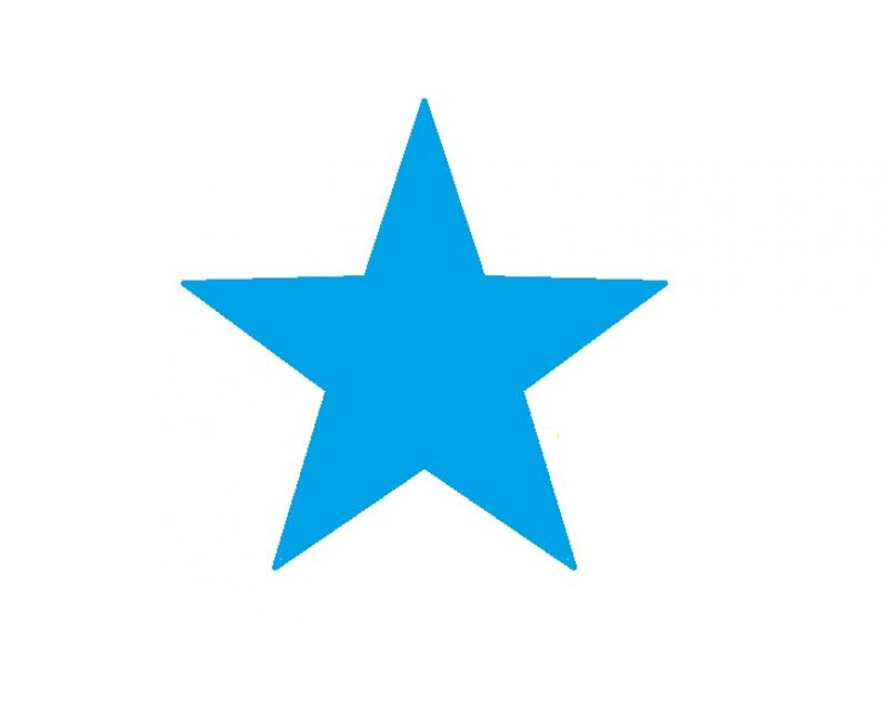 Gomet estrella azul rollo