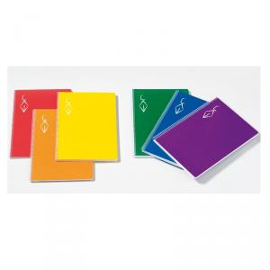 Bloc A4 cuadrícula 100hj. rígido/colores surtidos