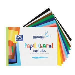 Bloc papel charol 10 colores A4 10hj.