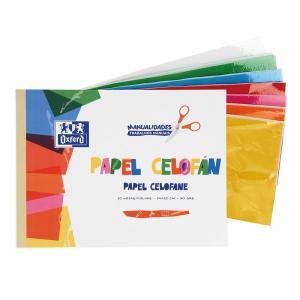 Bloc papel celofán 7 colores A4 10hj.