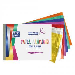 Bloc papel aluminio 7 colores 10hj.