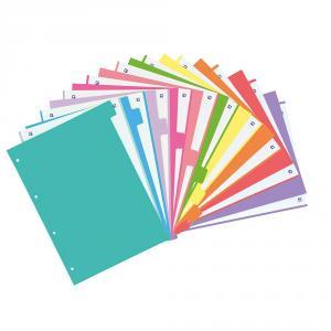 Separadores A4 10 posiciones 10 colores