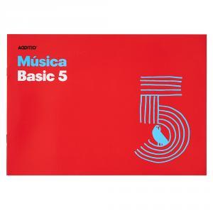 Cuaderno de música Additio Basic 5 pentagramas