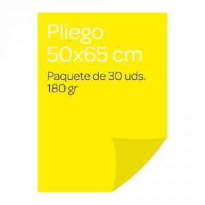 Cartulina pliego amarillo 30 unidades