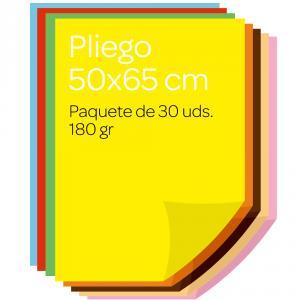 Cartulina de colores surtidos 50 x 65 Delfi. 30 unidades