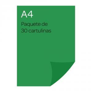 Cartulina color verde medio 30 unidades A4