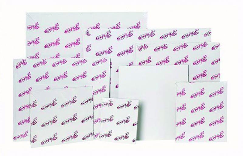 Tabla entelada figura 35x27 cm