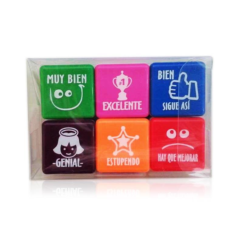 Pack de 6 sellos motivación español