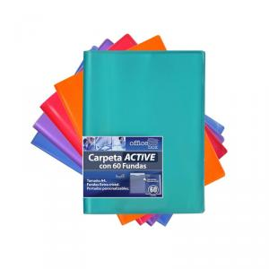 Carpeta A4 60 fundas Active Supra color surtido
