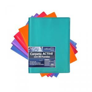 Carpeta A4 80 fundas Active Supra color surtido