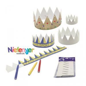 Set coronas para decorar 12 unidades