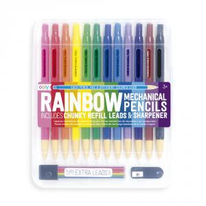 Lápiz color Rainbow Mechanical con recambios y afilalápiz (12 colores)