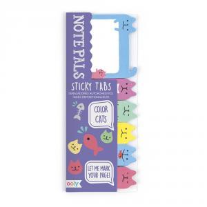 Marcapáginas adhesivos Note Pals gatos de colores