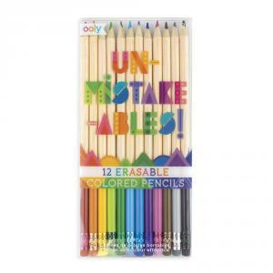 Lápiz de color borrable Unmistakeables (12 colores)