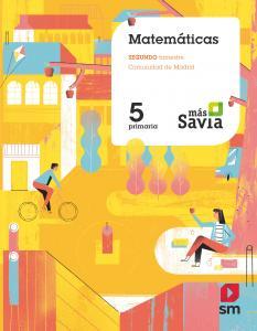 MATEMATICAS 5ºEP MADRID 19 TRIMESTRAL MAS SAVIA